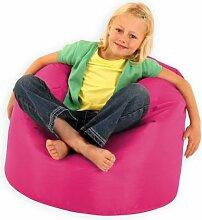 Bean Bag Bazaar Großer Sitzsack für Kinder pink–100% Wasserabweisend Indoor & Outdoor Riesen Kinder Bean Bag