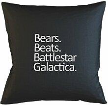 Bears Beats Battlestar Galactica Kissenbezug Haus Sofa Bett Dekor Schwarz