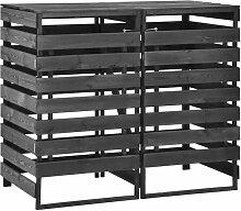 Bearsu - Mülltonnenbox für 2 Tonnen 140x75x121