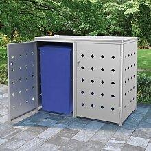 Bearsu - Mülltonnenbox für 2 Tonnen 240 L