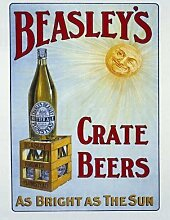 Beasley's Kiste Bier, Alt Pub, Bitter Ale, Bar, Hotel Metall/Stahl Wandschild - 15 x 20 cm