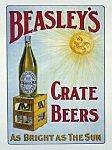 BEASLEY'S KISTE Bier-Grosse RETRO BLECHSCHILD,