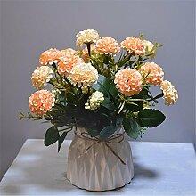 Beata.T Artificial Flowers Suit Fake Blumendekoration Rose Modell Raum Dekoration Wohnzimmer Tisch Keramik Blumenmöbel, E