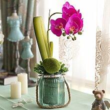 Beata.T Die Motte Orchid Anstecker Künstliche Blumen-Emulation, die florale Dekoration der Blumentisch Blumenornamenten Home Zubehör, Viole