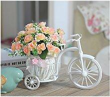 Beata.T Hohe Emulation Beeren Vasen kleiner Tisch mit Blumen in der Stirnwand Künstliche Blumen Emulation Blume, die Rosa Rosen