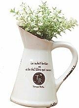 Beata.T Künstliche Blumen Anzug Keramik Home Simulation Pflanze Bonsai Kreative Klee Simulation Grün Pflanze Kleine Topf Dekoration Dekoration, C