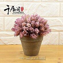 Beata.T Künstliche Blumen Bonsai Retro Dekoriert