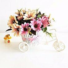 Beata.T Künstliche Blumen Heimtextilien Ornamente Plastik Blumen Dekoration Blumen Wohnzimmer Platziert Blumen Seide Blume, D