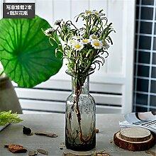 Beata.T Künstliche Blumen Landschaft Einfache Retro Farbe Fläschchen Frisches Glas Getrocknete Blume Blumen Anordnung Heimtextilien Ornamente, I