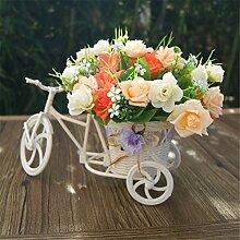 Beata.T Künstliche Blumen Pastoral-Tricelle-Tisch Verziert Mit Plastik-Blumen Platziert Blumen-Ornamente, F