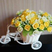 Beata.T Künstliche Blumen Seide Blume Rose Auto Pastorale Heimtextilien Dekoriert Blumen, F