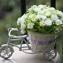 Beata.T Künstliche Blumen Seide Blume Rose Parkplatz Garten Wohnzimmer Möbel Dekorative Blumen, G