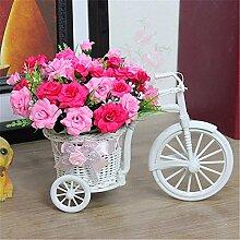 Beata.T Künstliche Blumen Set Auto Wohnzimmer Dekoration Gefälschte Blumen Heimtextilien Ornamente Platziert Plastik Blumen Seide Blume Blume Anordnung, N