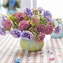 Beata.T Künstliche Blumen Set Einrichtungsgegenstände Heimtextilien Tischdekoration Fake Blumen Ornamente Farbe Flasche Simulation Blumen Kleine Topfpflanzen, A