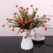 Beata.T Künstliche Blumen Set Garten Orchidee Ornamente Wohnzimmer Tisch Couchtisch Platziert Plastik Gefälschte Blume Blume Blume Topf Topf, P