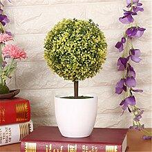 Beata.T Künstliche Blumen Set Grüne Pflanzen Kleine Keramik Kreative Heimtextilien Mini-Ornamente, K