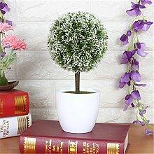 Beata.T Künstliche Blumen Set Grüne Pflanzen Kleine Töpfe Kreative Heimtextilien Mini-Ornamente, M