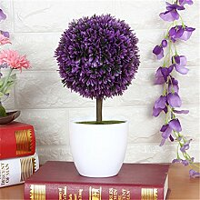 Beata.T Künstliche Blumen Set Grüne Pflanzen Kleine Töpfe Kreative Heimtextilien Mini-Ornamente, R