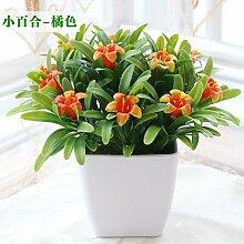 Beata.T Künstliche Blumen Set Heimtextilien Dekoration Schreibtisch Mini Dekorative Gefälschte Blume Neue Topfpflanze (14 * 15Cm), G