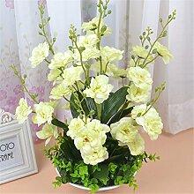 Beata.T Künstliche Blumen Set Heimtextilien Wohnzimmer Essbereich Eingang Vase Moderne Blume Gefälschte Blume Seide Blume (40 * 50Cm), C