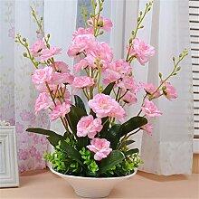 Beata.T Künstliche Blumen Set Heimtextilien Wohnzimmer Tisch Vase Dekoriert Vase Moderne Blumen Blume Blumen (40 * 50Cm), F