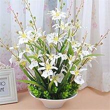 Beata.T Künstliche Blumen Set Heimtextilien Wohnzimmer Tisch Vase Dekoriert Vase Moderne Blumen Blume Blumen (40 * 50Cm), H