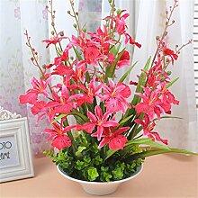 Beata.T Künstliche Blumen Set Heimtextilien Wohnzimmer Tisch Vase Dekoriert Vase Moderne Blumen Blume Blumen (40 * 50Cm), B