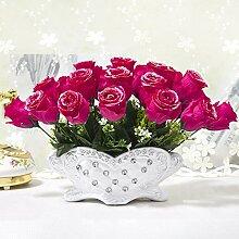 Beata.T Künstliche Blumen Set Hirtenblumen Super Nachahmung Seide Blume Konferenztisch Blume Blume Tisch Tisch Kunst, T