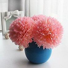 Beata.T Künstliche Blumen Set Kleine Frische Keramik Ball Vase Garten Pastorale Dekoration Wohnzimmer Hausdekorationen Falsche Blumen, Q