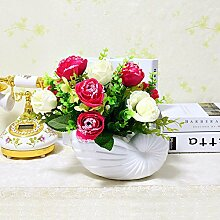 Beata.T Künstliche Blumen Set Pastoral Blumen Super Nachahmung Seide Blume Konferenztisch Blume Taiwan Blume Tisch Tisch Kunst, J