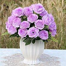 Beata.T Künstliche Blumen Set Rose Blume Seide Garten Hause Wohnzimmer Tisch Dekorieren Blume Tisch Blumen, Aw