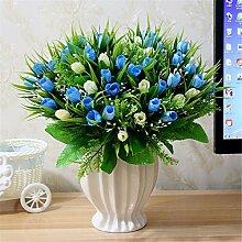 Beata.T Künstliche Blumen Set Rose Blume Seide Garten Hause Wohnzimmer Tisch Dekoriert Blume Tisch Display Blumen, V