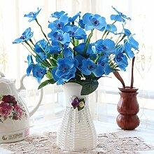 Beata.T Künstliche Blumen Set Schmetterling Orchidee Blume Wohnzimmer Tisch Dekoriert Mit Gefälschten Töpfen Vergossen Hause Dekoration Ornamente Seide Blume (10 * 35Cm), M