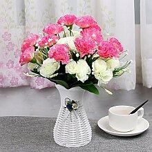 Beata.T Künstliche Blumen Set Schmetterling Orchidee Blume Wohnzimmer Tisch Dekoriert Mit Gefälschten Topf Topf Dekoration Ornament Seide Blume (10 * 35Cm), D