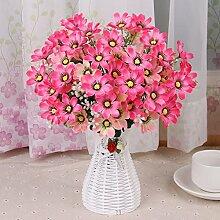 Beata.T Künstliche Blumen Set Schmetterling Orchidee Blume Wohnzimmer Tisch Dekoriert Mit Gefälschten Topf Topf Dekoration Ornamente Seide Blume (10 * 35Cm), X
