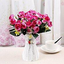 Beata.T Künstliche Blumen Set Schmetterling Orchidee Blume Wohnzimmer Tisch Dekoriert Mit Gefälschten Topf Topf Dekoration Ornamente Seide Blume (10 * 35Cm), Y
