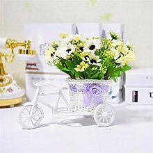 Beata.T Künstliche Blumen Set Schwimmer Wohnzimmer Dekoration Dekoration Tisch Blumen Gefälschte Blumen, O