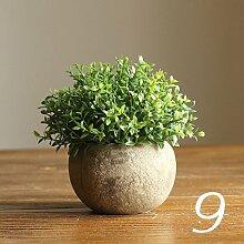 Beata.T Künstliche Blumen Set Simulation Baum Bonsai Blume Ball Gras Ball Tisch Tischdekoration, I