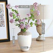 Beata.T Künstliche Blumen Set Simulation Blumenstickerei Ball Boden Tisch Seide Blume Heimtextilien, A