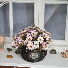 Beata.T Künstliche Blumen Set Simulation Fake Blume Pastoralen Stil Tisch Floralen Möbeln, J