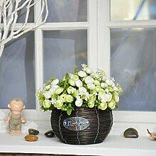 Beata.T Künstliche Blumen Set Simulation Fake Blume Pastoralen Stil Tisch Blumenmöbel, P