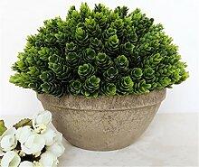 Beata.T Künstliche Blumen Set Simulation Pflanze Bonsai Monkey Gras Nelke Luohan Gras Ananas Heimtextilien Ornamente, B