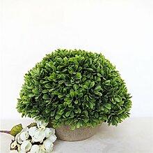 Beata.T Künstliche Blumen Set Simulation Pflanze Bonsai Monkey Gras Nelke Luohan Gras Ananas Heimtextilien Ornamente, E