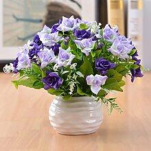 Beata.T Künstliche Blumen Set Simulation Von Gefälschten Blumen Topfmöbel Wohnzimmer Tisch Dekoriert Dekorative Ornamente, U