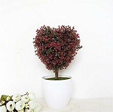 Beata.T Künstliche Blumen Set Simulation Von Kreativen Pflanzen Gefälschte Blumen Topfpflanzen Heimtextilien Tv Schrank Dekoration, A