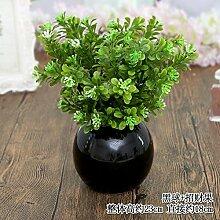 Beata.T Künstliche Blumen Set Tisch Blume Keramik Ball Vase Garten Simulation Blumen Ornamente Wohnzimmer Hausdekorationen Falsche Blumen, C