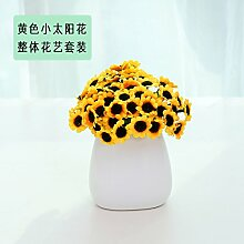 Beata.T Künstliche Blumen Set Weiße Keramische Vase Garten Pastorale Ornamente Wohnzimmer Hausdekorationen Falsche Blumen Simulation, B