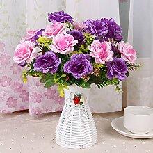 Beata.T Künstliche Blumen Set Wohnzimmer Blütenrinde Orchidee Blume Blume Blumentöpfe Topf Tisch Tisch Tisch Innen Haus Dekoration Dekoration, J