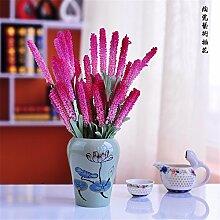 Beata.T Künstliche Blumen Set Wohnzimmer Schlafzimmer Dekoration Kunststoff Ornamente Kleine Topf Tisch Tisch Tisch Dekoration, N