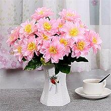 Beata.T Künstliche Blumen Set Wohnzimmer Tisch Dekoriert Mit Idyllischen Blumen Blumen Blumen Innendekoration Ornamente Blumen, M